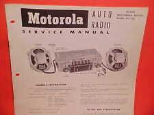 1952 NASH AMBASSADOR STATESMAN MOTOROLA RADIO SERVICE SHOP MANUAL BROCHURE BOOK