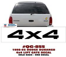QG-855 1998-03 DODGE DURANGO - 4x4 / LIFT GATE DECAL - LICENSED - SOLD EACH