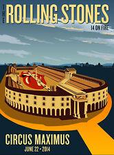Rolling Stones Roma Circo Massimo 22 June Stampa Fine Art Quadro su Pannello MDF