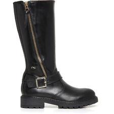 NERO GIARDINI A732773F TEEN scarpe donna stivaletti stivali anfibi tronchetti