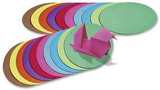 Faltblätter Origami Papier 15 cm rund 500 Blatt 70g/m² in 10 kräftigen Farben