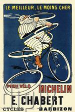 PLAQUE ALU DECO AFFICHE LE MEILLEUR LE MOINS CHER VELO CYCLES CHABERT BARBIZON