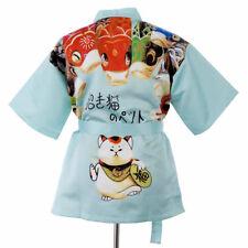 Summer Happi Sushi Chef Coat Serving Short Kimono Chef Jacket Hotel Uniform Cat
