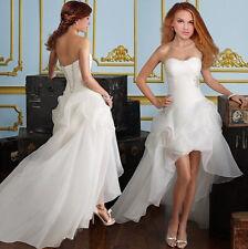 Abito da matrimonio sposa vestito ballo sera bianco crema NUOVO BC284