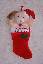 Dog Christmas Stocking Plush Stuffed Animal Dotty Personalized 16 in.