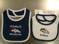 Denver Broncos 2 Pack Baby Bib NFL New Infant