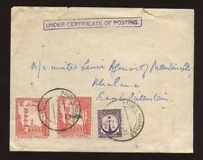 EAST PAKISTAN 1961 BOXED CERT.of POSTING..DOUBLE MOORINGS PMK + 3 STAMP FRANKING