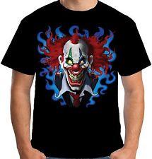 Velocitee Mens Crazy Clown T Shirt Scary Joker Jester Evil Biker A19401