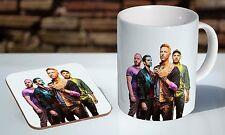 Coldplay Colourful Tea / Coffee Mug Coaster Gift Set