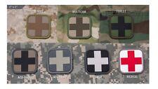 "PVC Morale Patch - Milspec Monkey - MEDIC CROSS - 2"" x 2"" - Choose Color Below"