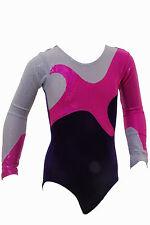 Gymnastic Leotard Long Sleeve  Velvet all sizes FAST DELIVERY UK