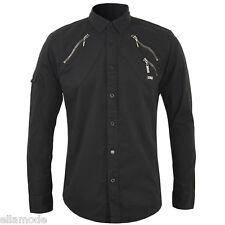 Henleys Black Long Sleeve Casual Zip Pockets Shirt Top BNWT Free UK Ship  Small