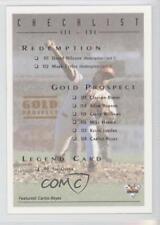 1994 Futera Australian Baseball Export Series #108 Checklist Card