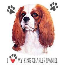 I Love My King Charles Spaniel Brand New Tee White Pink Gray T'shirts