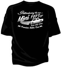 """introducing the new"" Austin Mini 1275gt, Retro T-shirt."