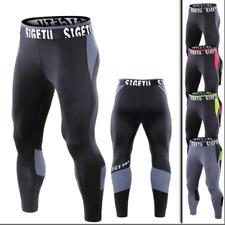 Men's Compression Running PantsFitness Gym Tights Base Layer Stretch Sportwear