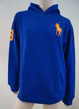 Polo Ralph Lauren Garçons Bleu Royal Neon Big Pony Sweat à Capuche Sweat Bnwt