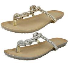 da donna SPOT ON Cinghia DIAMANTE Sandali infradito sandali