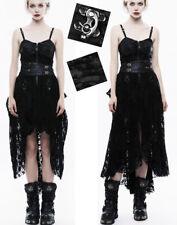 Robe steampunk victorien gothique lolita cuir velours traîne dentelle PunkRave N
