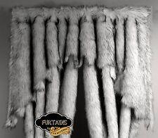 FUR ACCENTS FURTAIN VALANCE Black Tip Arctic Fox Faux Fur Curtain All Sizes