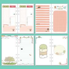 A5/A6 Cartoon Colourful Plan Diary Insert Refill Schedule Organiser 40Sheets NEW