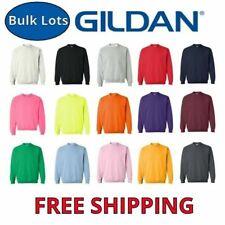Gildan Crew Neck Sweatshirts Bulk Lots S-XL Wholesale Choose Colors 18000