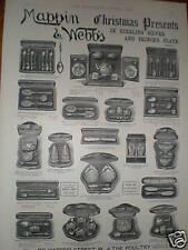 Mappin & Webb's Christmas Presents advert 1891