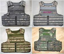 New Airsoft Molle RAV Plate Carrier Armor Vest Cover Replica ACU/Woodland Camo