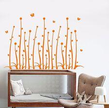 Vinyl Wall Decal Plants Flowers Nature Butterflies Nursery Stickers (934ig)
