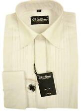 "Mens X/LONG SLV  White Pleated Front Reg Collar Evening  Dress Shirt 15""-19.5"""