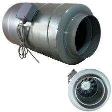 "Inline Silent Duct Fan & Silencer Combined Ventilation 150mm 6"" / 200mm 8"" Fans"
