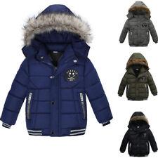 Kinder Mantel Junge Winter Baumwolljacke Warme Dicker Hoodie Kapuzenpullover Neu