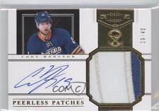 2011-12 Panini Dominion Peerless Patches Autographs #10 Cody Hodgson Auto Card