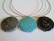 Acrylic disc necklace