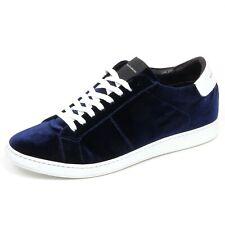 F6578 sneaker uomo velvet blu GAZZARRINI scarpe velluto shoe man