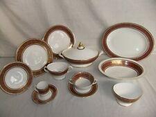 C4 Porcelain Fine Bone China Royal Doulton - Buckingham, gilded, burgundy 1D2D
