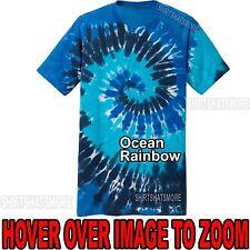 Mens Tie Dye T-Shirt Ocean Rainbow Spiral Design S-XL 2XL 3XL 4XL Tye Died NEW!