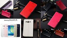 Flip Slim Tasche Etui Schutz hülle Klapp Case Cover Samsung GALAXY A7 Folie Tuch