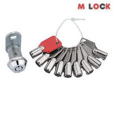 """High security Gematic Lock cam lock 5/8"""" or 1 1/8"""" w 9pcs keys master key"""