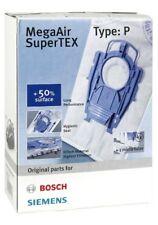 ORIGINALE Bosch Tipo P MegaAir SuperTex Aspirapolvere Sacchetti