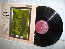 PETE SEEGER-CONCERT FOLK SONGS AND BALLADS NM/VG+ VINYL RECORD ALBUM LP
