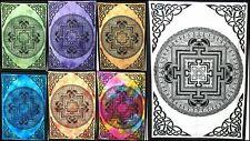 Indian Vastu Yantra Mandala Poster Tapestry Wall Hanging Hippy Small Table Cloth