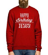 Happy Birthday Jesus Sweater Christmas Jumper Slogan Men Women Kids Funny JC26