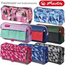 Kinder Federmappe Stifteetui mit Namen Faulenzer in 9 Farben Tasche Schule QD442