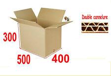lot de 10 boîtes carton ou emballage caisse carton 500 X 400 X 300 mm DD