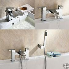 Robinet salle de bain cascade GEMINI bassin mono, bain de remplissage et mitigeur douche en laiton massif
