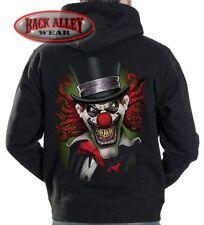 CRAZY CLOWN Hooded Sweat Shirt M-3XL Hoodie ~ Insane Evil Jester ~FrEaK