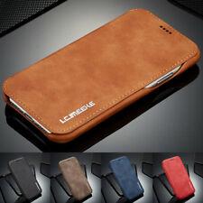 Ultra Mince PU Cuir Flip Portefeuille Coque Housse pour Samsung & Apple Modèles