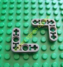 2 x Lego Technic 32056  - Liftarm 3 x 3 L-Shape Thin  (Dark Bluish Gray)