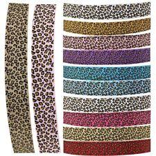 Premium Grosgrain Leopard Print Ribbon - 3 Metres - Cheetah Giraffe Animal